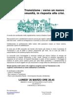 Verso Corticella in Transizione Volantinol