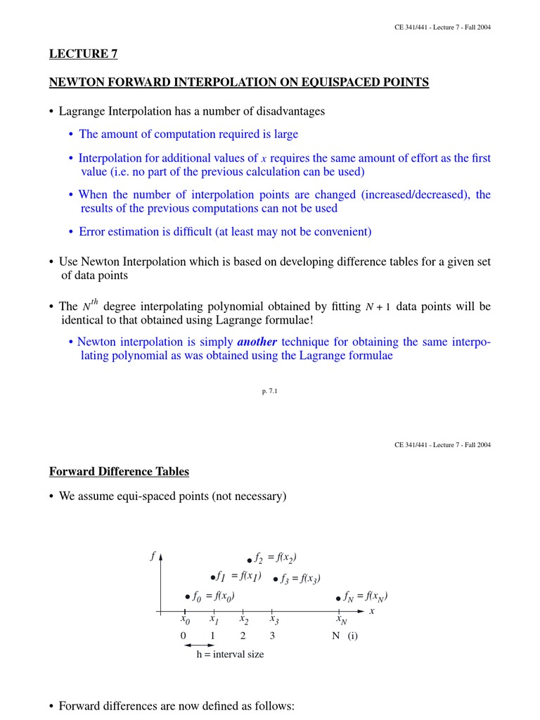 Newton Forward Difference 5 | Interpolation | Finite Difference