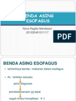 BENDA ASING ESOFAGUS