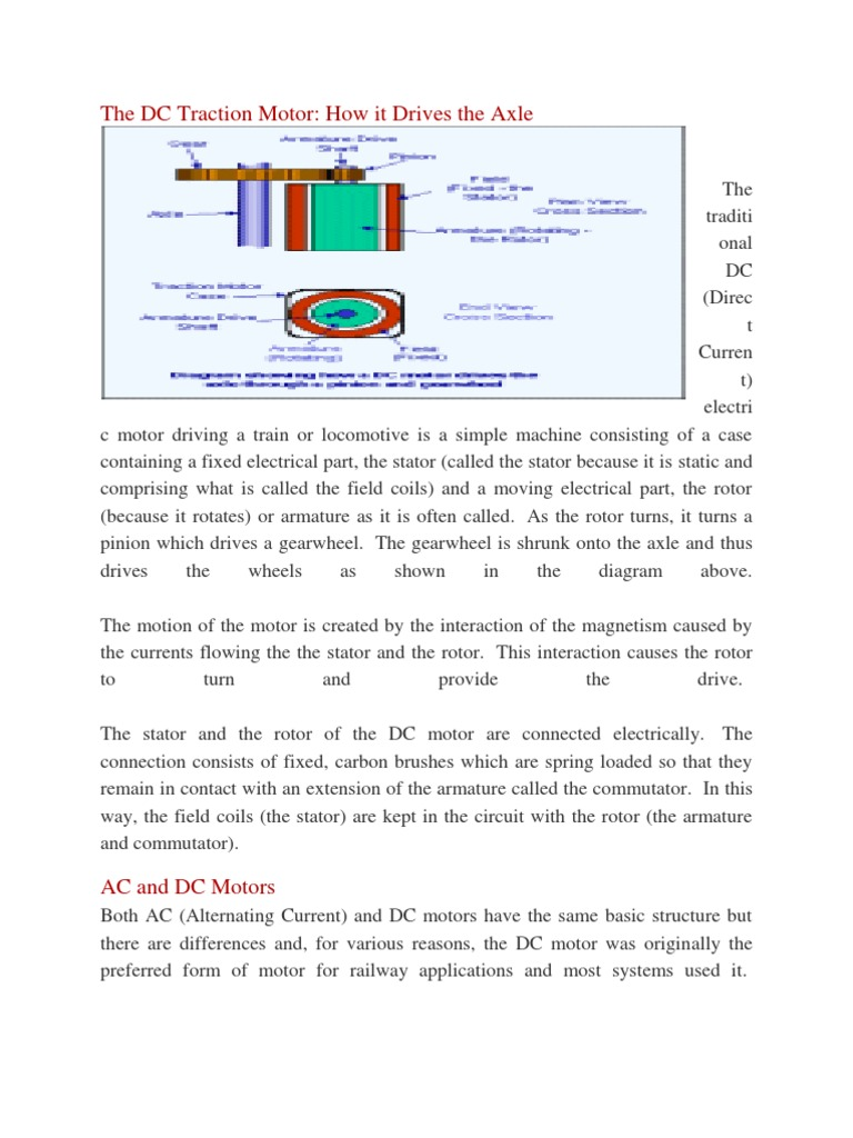 The dc traction motor electric motor electrical components pooptronica Choice Image