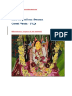 FAQ of Swarna Gowri Pooja New 2011