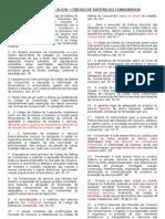 LISTA 1 - 27  EXERCÍCIOS - FALSO E VERDADEIRO - Cód Def Consumidor - CEF