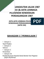 Akta Pengangkutan Jalan 1987 [ Akta 333 ]&