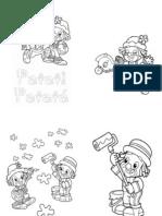 83138302 NOVO Livrinho Colorir Patati Patata