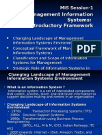 MIS Session-1 and 2 MIS-An Introductory Framework