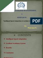 Intelligent Speed Adaptation & Accident Avoidance System