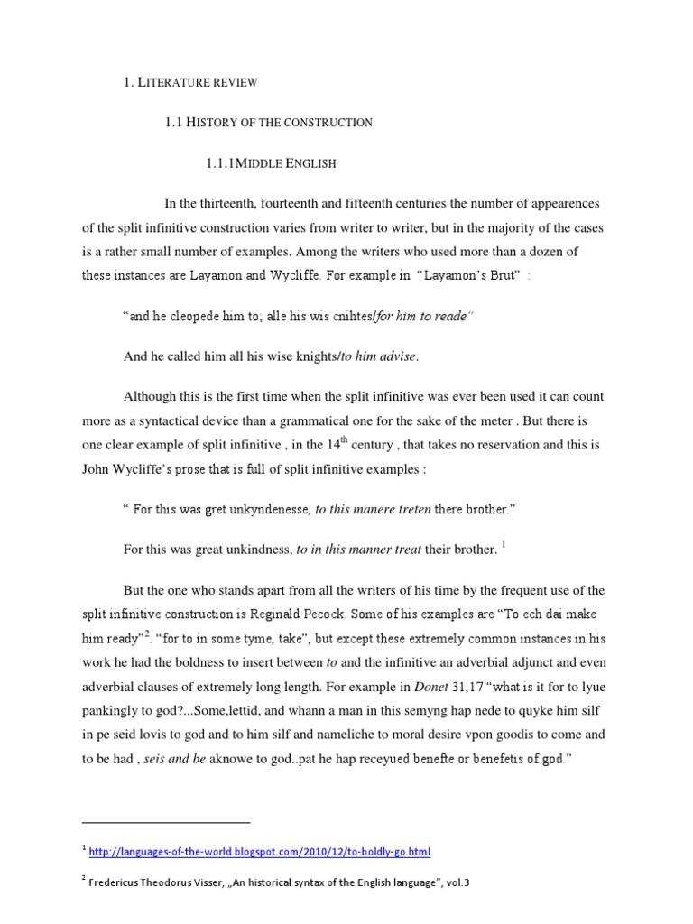 Split Infinitive Zombie Rule Semantics Morphology