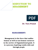 Dr.vara's Introduction to Mgt