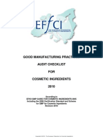 Audit_Checklist for Cosmetic Ingredients EFFCI