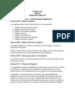 CÓDIGO CIVIL - LIBRO IX REGISTROS PUBLICOS