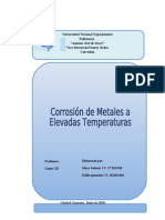 Informe#1. Corrosión de metales a elevadas temperaturas