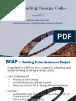 EESI Briefing Energy Codes Guttman 032012