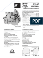 CATERPILLAR® ENGINE SPECIFICATIONS