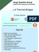 Analysis of Thermal Bridges