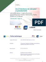 Intentions de vote Présidentielle 2012 V14 - 27/3/2012