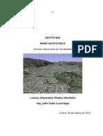 Turubamba Mapa Geotecnico