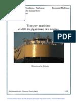 le transport maritime et défi de gigantesme des navire