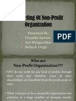 Final Marketing of Non-Profit ion