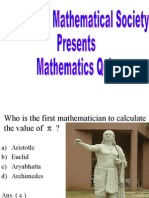 Mathematics Quiz for Msc-i Students) First Round