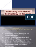 E - Learning and the Use of Technology in Training - PPT 8