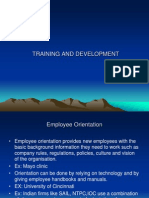 Traing and Development