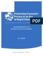 Final FTC Report on Protecting Consumer Privacy