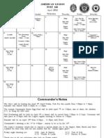 Legion Calendar April 2012