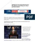 JTA Article - Translating U.S. pro-Israel advocacy for Jewish communities abroad—and taking care about context [with://myhyperlinksandphotosadded]