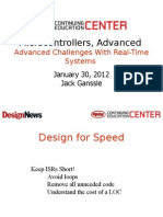 Advanced Challenges With Real Time Systems