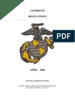 Marine Officer Candidate Regs