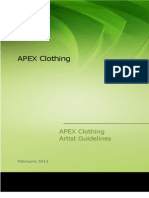 APEX Clothing Artist Guidelines