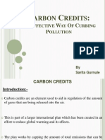 Carbon Credits Presentation by Sarita