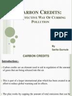 Carbon Credits Presentation by Sarita
