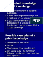 Priori Knowledge