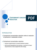 Contaminant Concentration Reduction