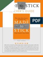 Made to stick - teacher guide