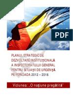 Plan Strategic de Dezvoltare Institutional A IGSU 2012-2016