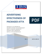 19043818 Advertising Effectiveness of Packaged Atta