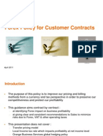 Forex Policy for Customer Contracts