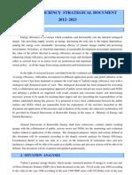 Energy Efficiency Strategical Document 2012