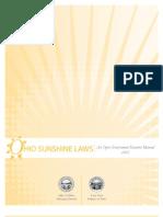 2012 Sunshine Law Manual - No Appendices