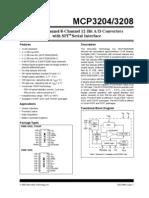 Datasheet ADC MCP3204