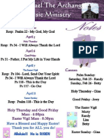 Music Notes - Holy Week