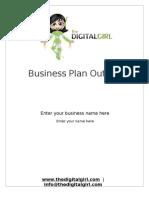 The Digital Girl Business Plan Outline 2009 English
