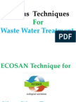 Techniques for Waste Water Treatment