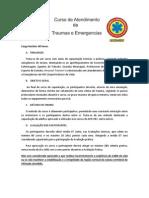 CURSO DE ATENDIMENTO DE TRAUMAS E EMERGÊNCIAS com data