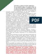 LOS DESAFIOS DE LA EDUCACIÓN CHILENA RESUMEN