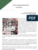 Carta Programa - Chapa DCE Livre! O Tempo Não Para.