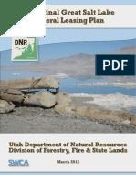 Draft Final Great Salt Lake Mineral Leasing Plan