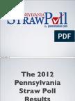2012 Pennsylvania Strawpoll Results